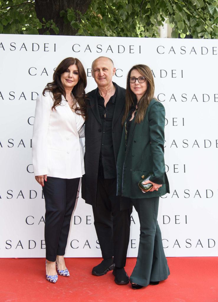 Carmen Seitan, Cesare Casadei si sotia lui, Alessandra Regattieri
