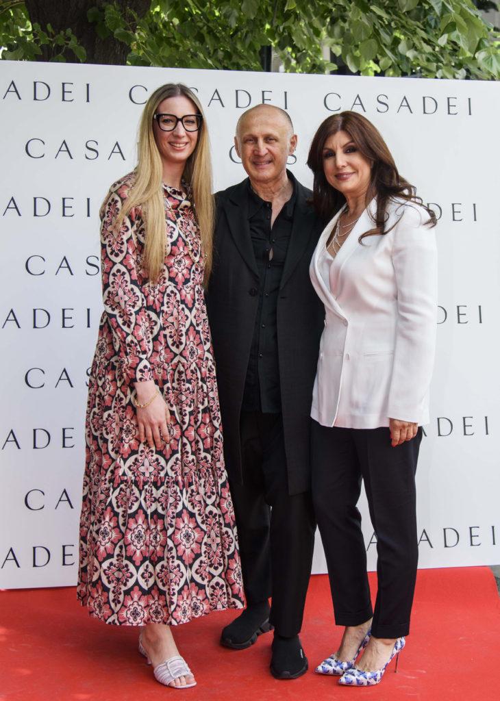 Cesare Casadei, alaturi de fiica lui, Arianna si de Carmen Seitan (Casadei Bourique)
