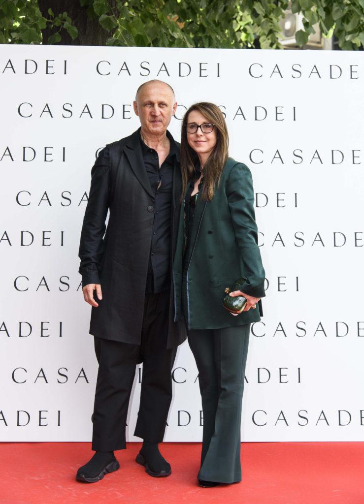 Cesare Casadei si sotia lui Alessandra Regattieri