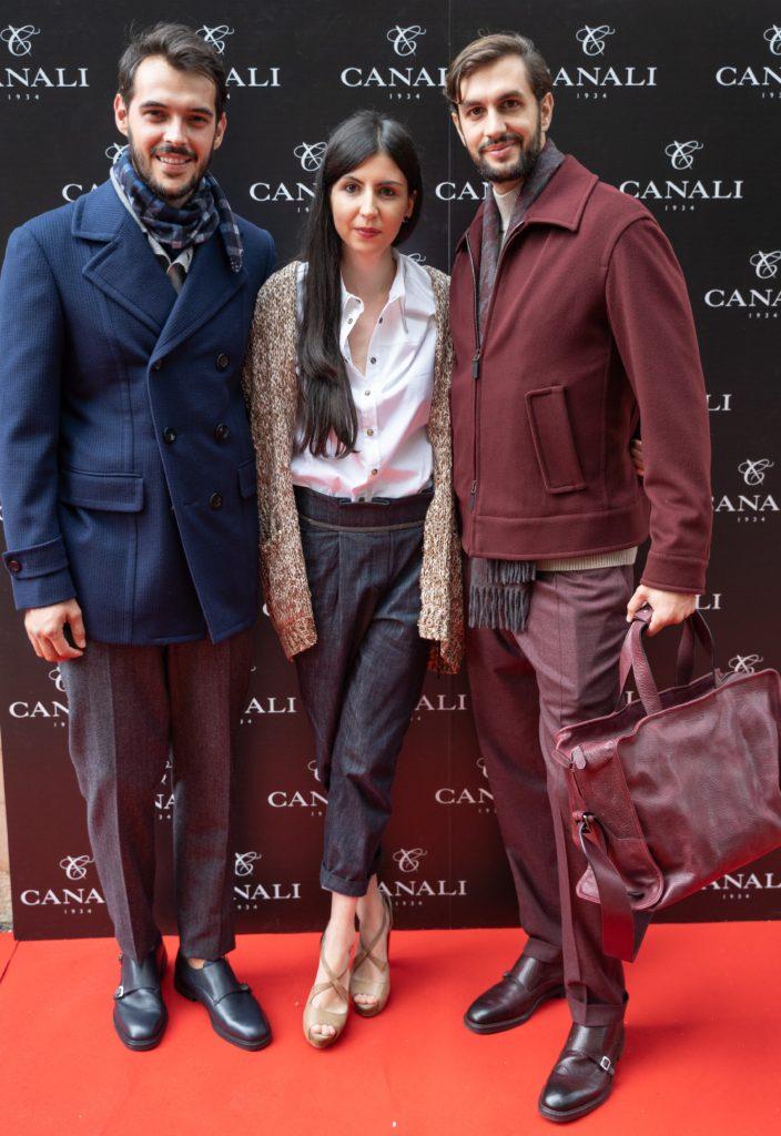 Alexandra Cristea (Canali), alaturi de modelele din prezentarea Canali Colectia Toamna Iarna 2018