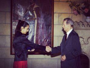 Majestatea Sa, Regele Mihai, și Sandra Gătejeanu-Gheorghe