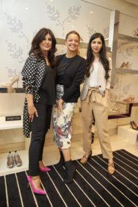 Carmen Seitan (Distinto Couture), Valentine Pretto (Sergio Rossi) si Alexandra Cristea (Distinto Couture)