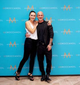 Corina Kristaly (Top Line) si Angelo Fraccica (Moroccanoil Creative Team Deasigner)