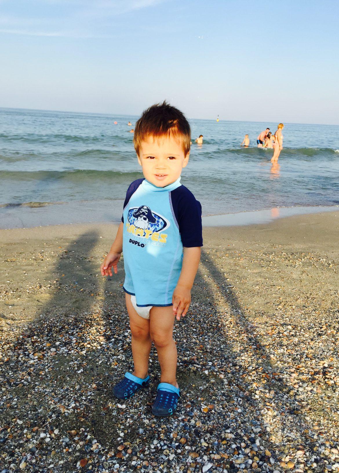 Eu pe plaja