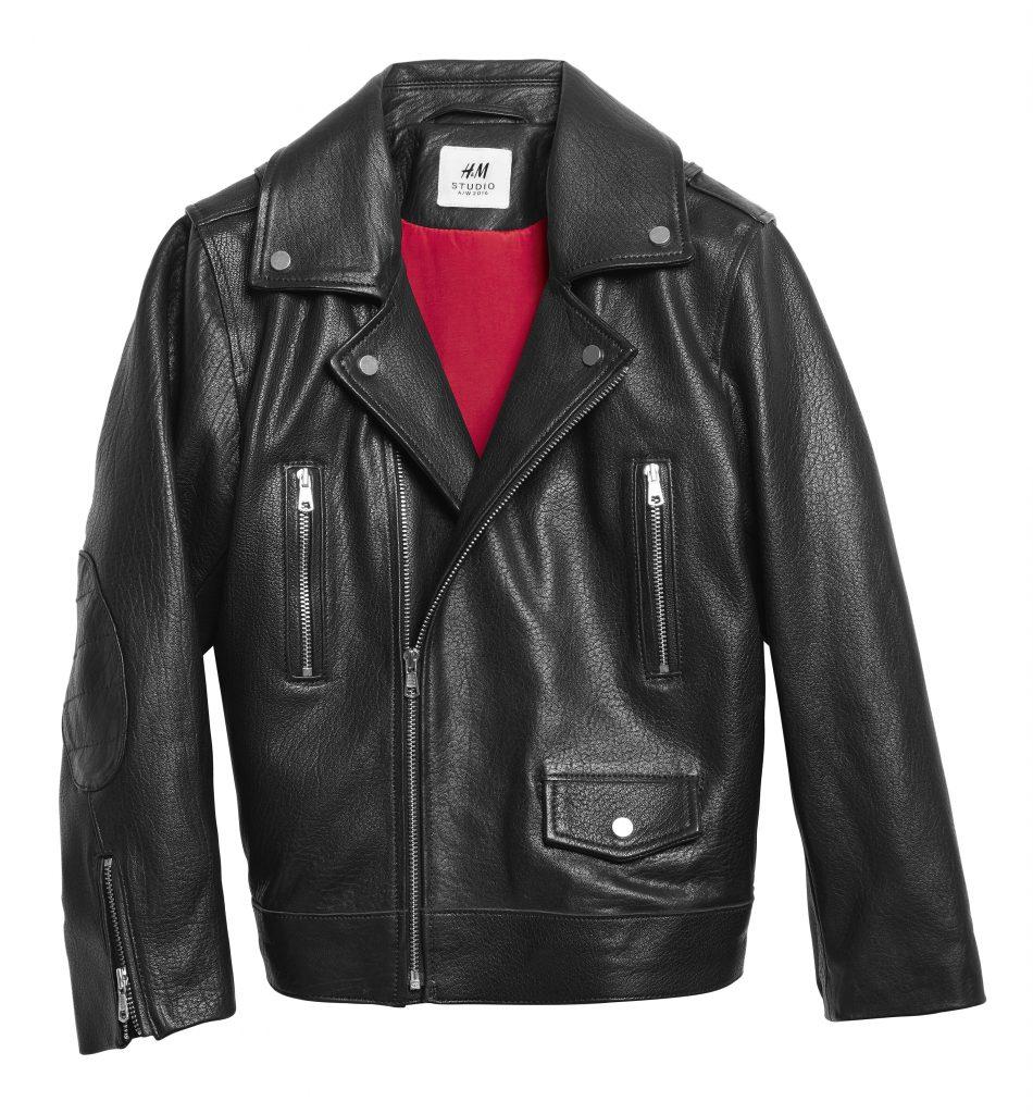 Jacheta biker din piele H&M Studio AW 2016 - 399 lei