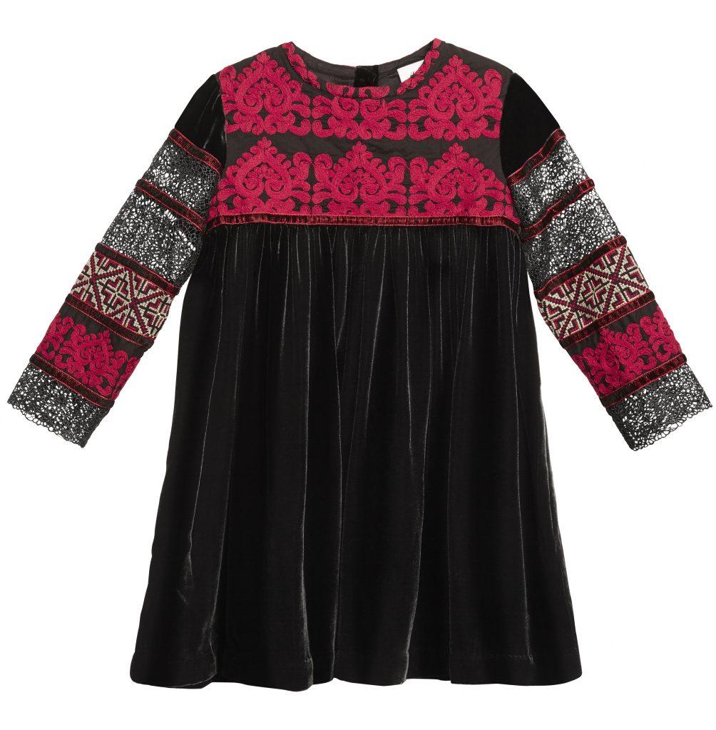 Rochie brodata H&M Studio Girls - perfecta pentru petrecerile de iarna