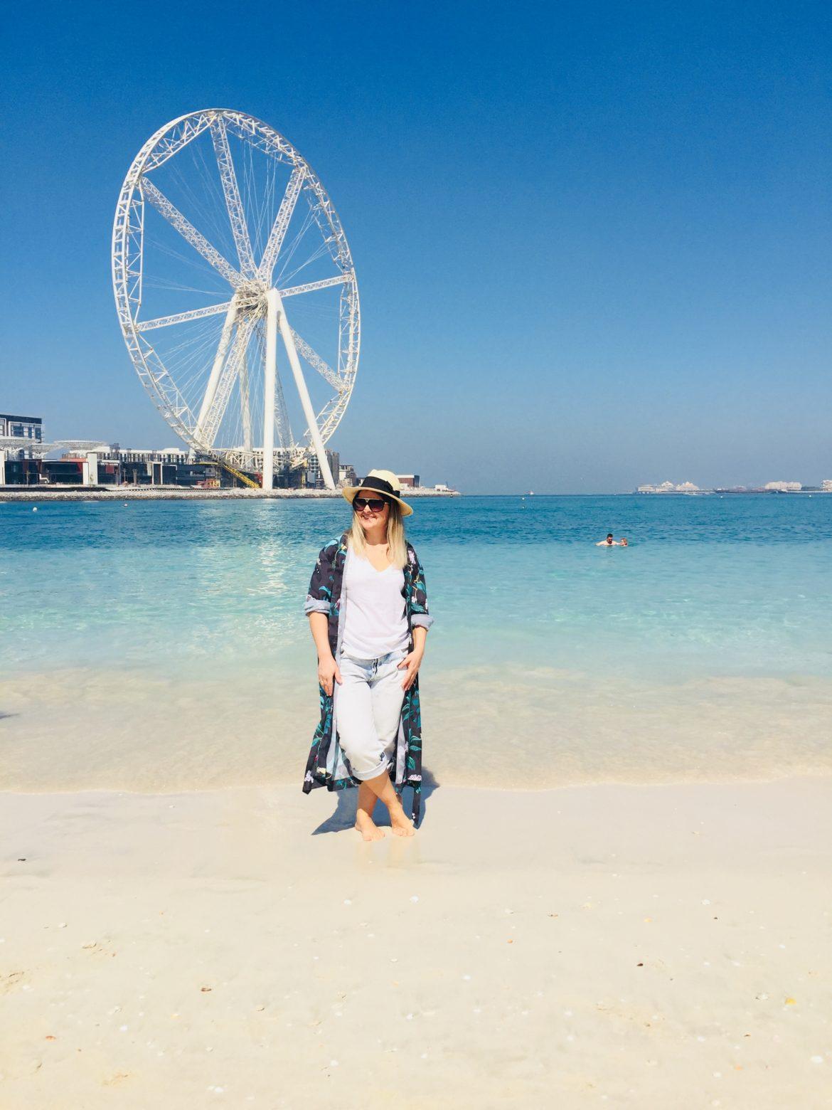 Me wearing H&M on Jumeirah Beach